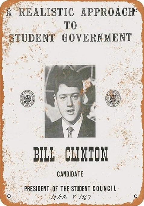 HiSign Bill Clinton Retro Cartel de Chapa Coffee Póster Bar ...