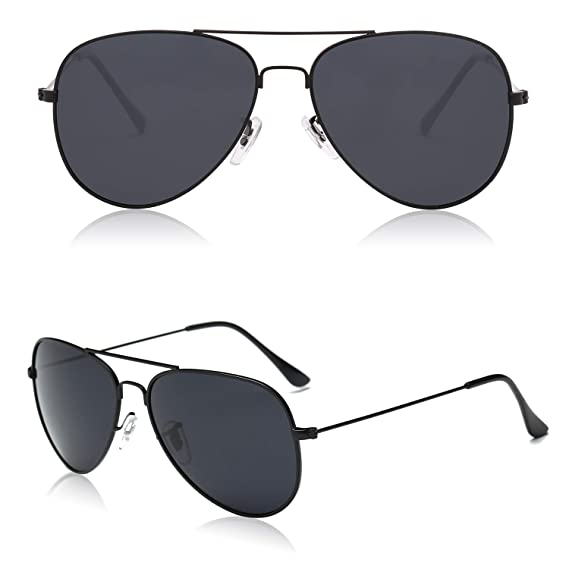 7027a58bdfe SOJOS Classic Aviator Polarized Polycarbonate Unisex Sunglasses Mirrored  UV400 Lens SJ1054  Amazon.in  Clothing   Accessories
