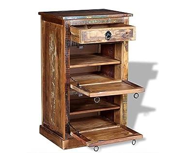 33ec7dd193aa8a Rustikal Schuhschrank Vintage Industrie Möbel massiv wieder Holz Box  handgefertigt Schrank Flur Hall Organizer-Einheit