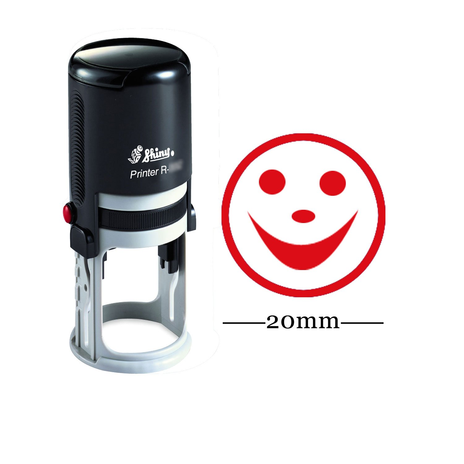 Happy Smily Round Self Inking Rubber Stamp Custom Shiny 20mm Mini Stamp Personalized Teachers Stamps