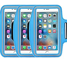 3Pack Armband Exercise Sports Easy iBarbe Fitting Slim Scratch-Resistant Running Water Resistant Key Holder Slot For Phone up to 5.5 inch Screen Men Women Sweat-Resistant Design not for iphone 4 4s