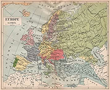 EUROPE 1815: Austria-Hungary. German Confederation. Ottoman Empire ...