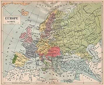 Map Of Germany 1815.Europe 1815 Austria Hungary German Confederation Ottoman Empire