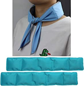 Ice Neck Wrap, Cooling Neck Wrap, Ice Bandana Cooling Ice Pack for Neck, Head, Shoulder, Belly (Teal B)