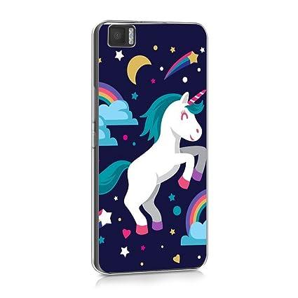 Reshias BQ Aquaris M5 Funda Unicornio Que rebota Soft Ligera Gel TPU Silicona Protectorae Teléfono Carcasa para BQ Aquaris M5