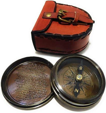 Unique Nautical Compass Vintage Collectible Compass With Leather Case