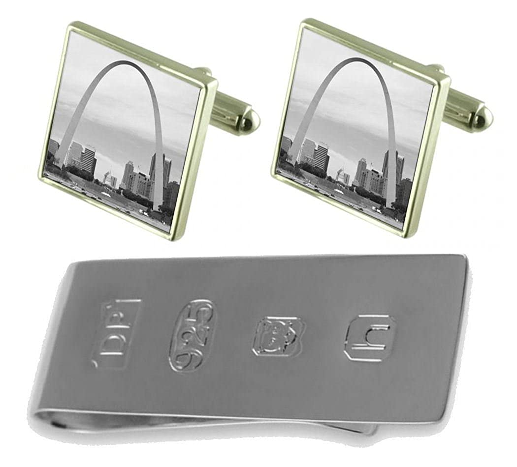 Select Gifts St Louis Gateway Cufflinks /& James Bond Money Clip