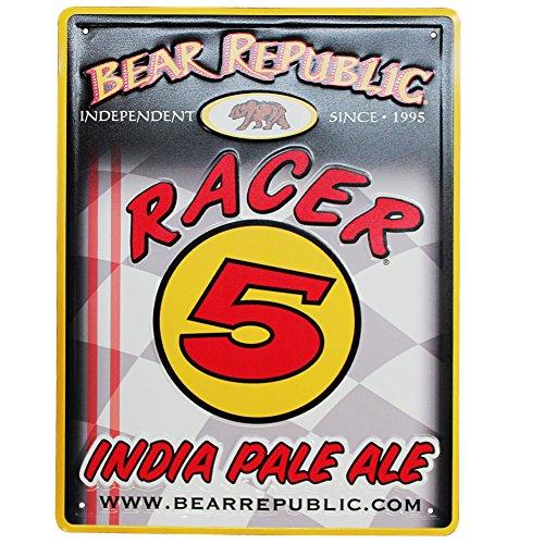 Bear Republic Brewing Company Racer 5 Metal Tacker - 5 Bear Republic Ipa Racer