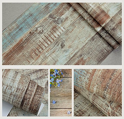 Blooming Wall Vintage Wood Panel Wood Plank Wallpaper Rolls Wall Paper Wall  Mural For Livingroom Bedroom Kitchen Bathroom  20 8 In32 8 Ft 57 Sq ft. Blooming Wall Vintage Wood Panel Wood Plank Wallpaper Rolls Wall