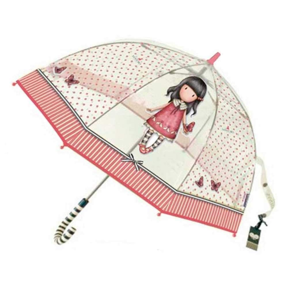 Paraguas transparente de Gorjuss.