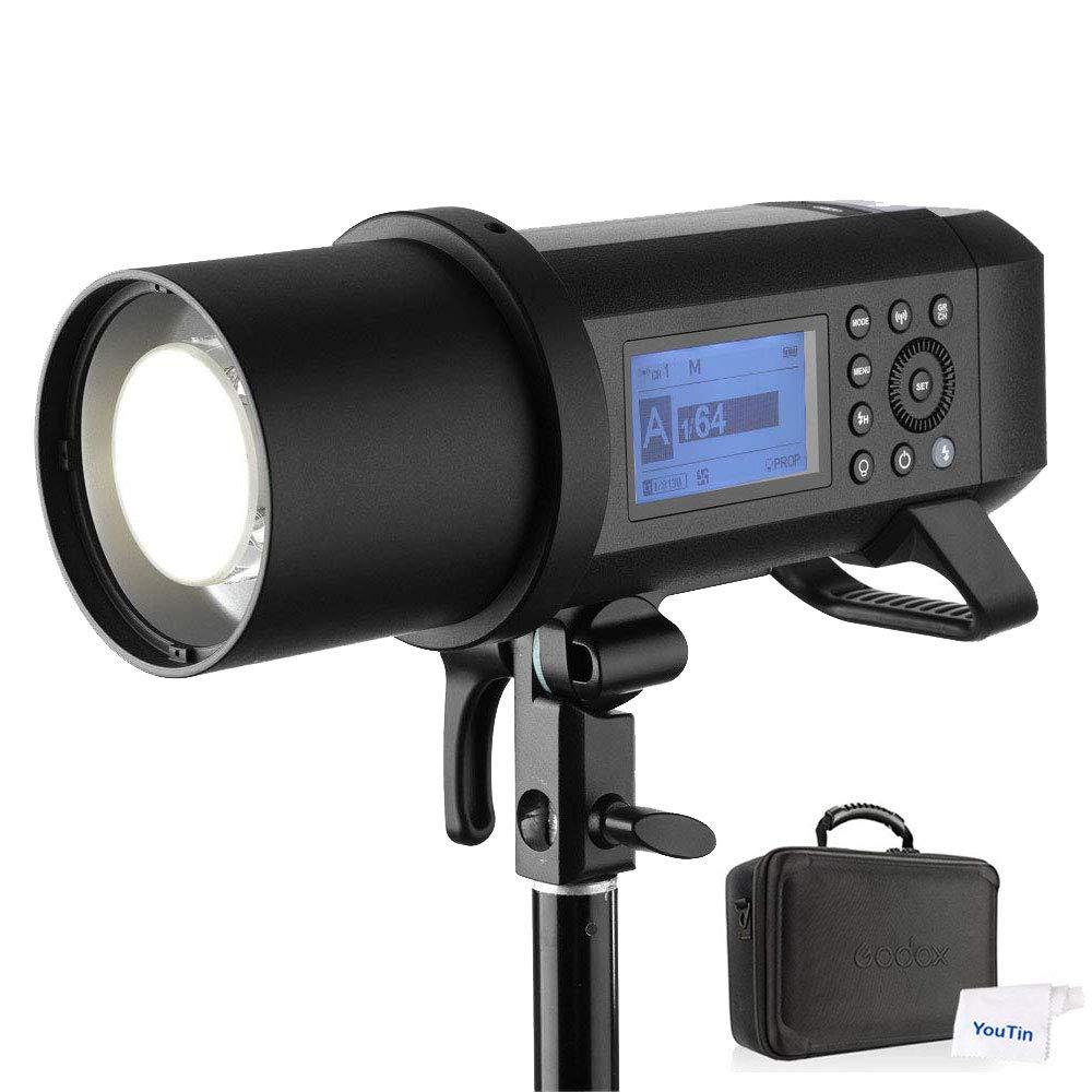 GODOX AD400Pro フラッシュ 400W オールインワンアウトドアフラッシュ ストロボ 2.4G GN72 TTL 1/8000秒 ハイスピードシンクロフラッシュ ストロボライト 2600mAhリチウムバッテリー スピードライト 30W LEDモデリングランプ ゴドックス Canon Nikon SONY FUJIFILM OLYMPUS Panasonicと互換性があります   B07HD69KGM