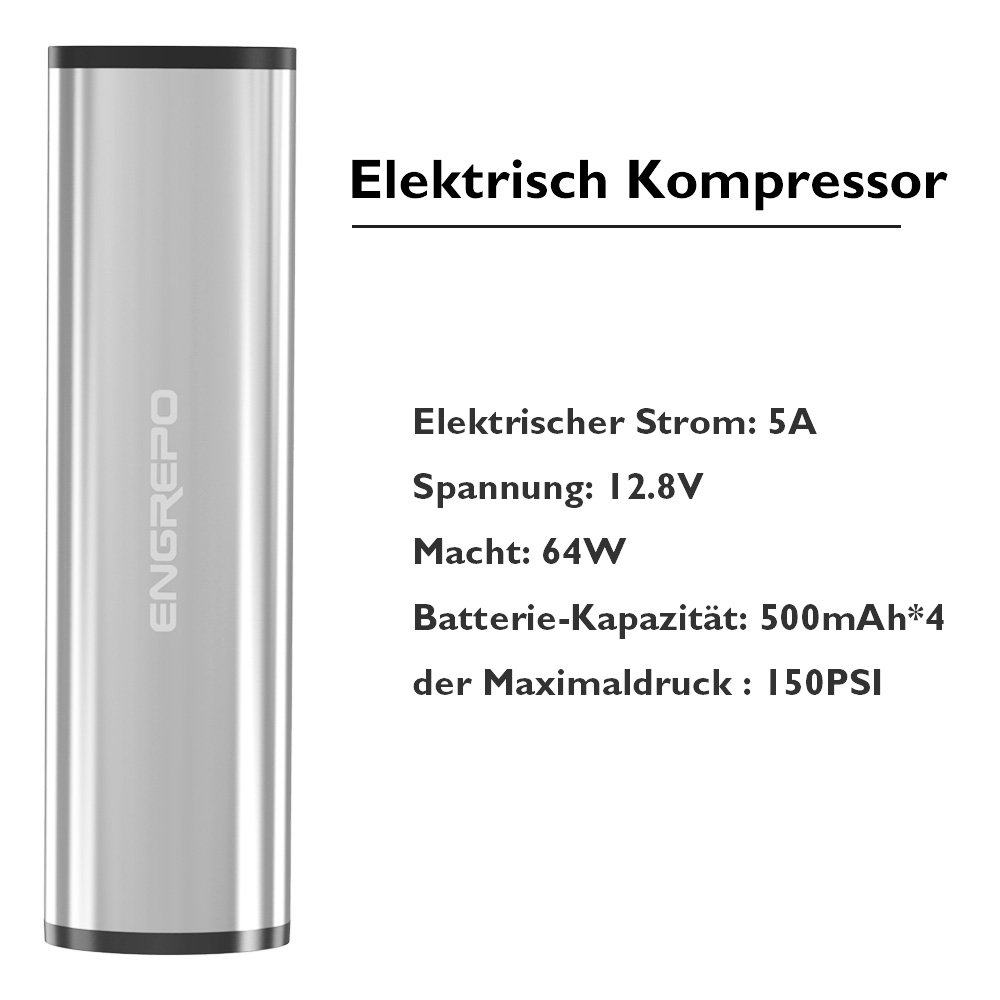 ENGREPO I50PSI 12V Tragbar Digitaler Elektrisch Kompressor ...