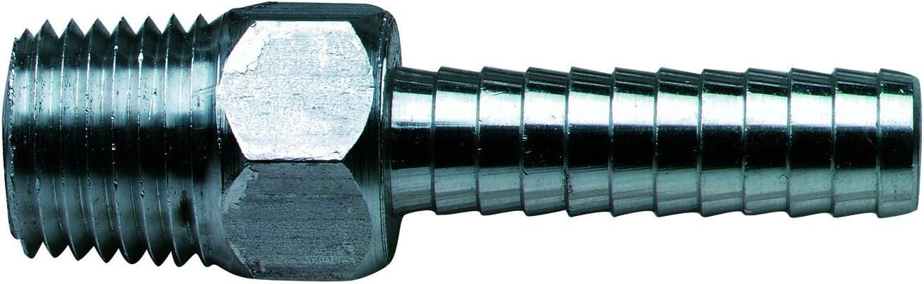 """Moeller Marine Aluminum Fuel Line Hose Barb (3/8"""" NPT x 3/8"""")"""
