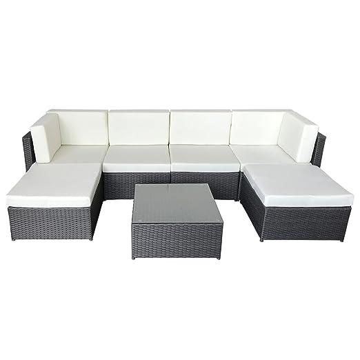 Conjunto BONIFACIO de sillas y mesa para jardín, en resina ...