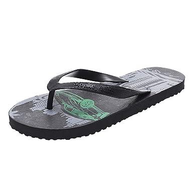 Mens Rubber Slip On Shower Beach Pool Outdoor Flip Flops Mules Sandals Navy