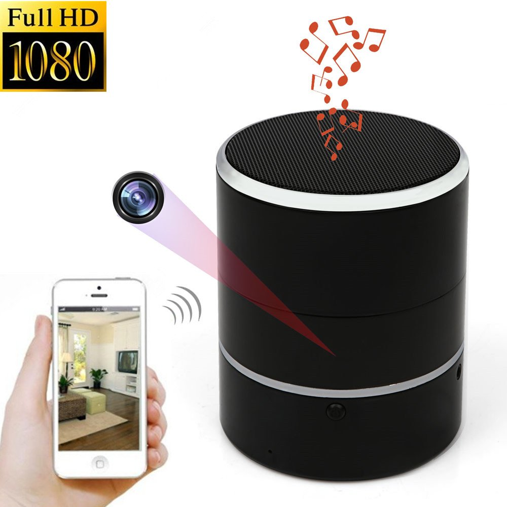 WNAT Hidden Camera 1080P WiFi HD Spy Cam Bluetooth Speakers Wireless Mini Camera Rotate 180° Video Recorder Motion Detection Real-Time View Nanny Cam by WNAT