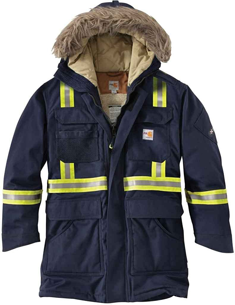 B00NCETLCO Carhartt Men's 100783 Flame-Resistant Extremes Arctic Parka Sherpa Lined Dark Navy 61b9SMWWXiL