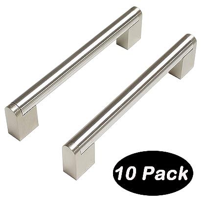 Tirador de acero inoxidable cepillado para armarios y cajones de cocina barra Boss