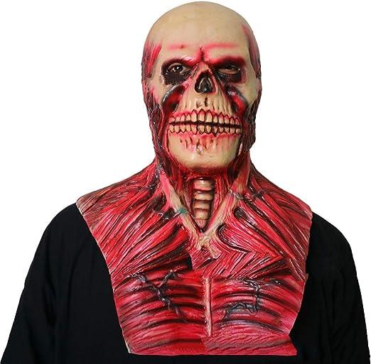 Moolo Halloween Máscara Máscara de látex Fantasma Zombie, Disfraz ...