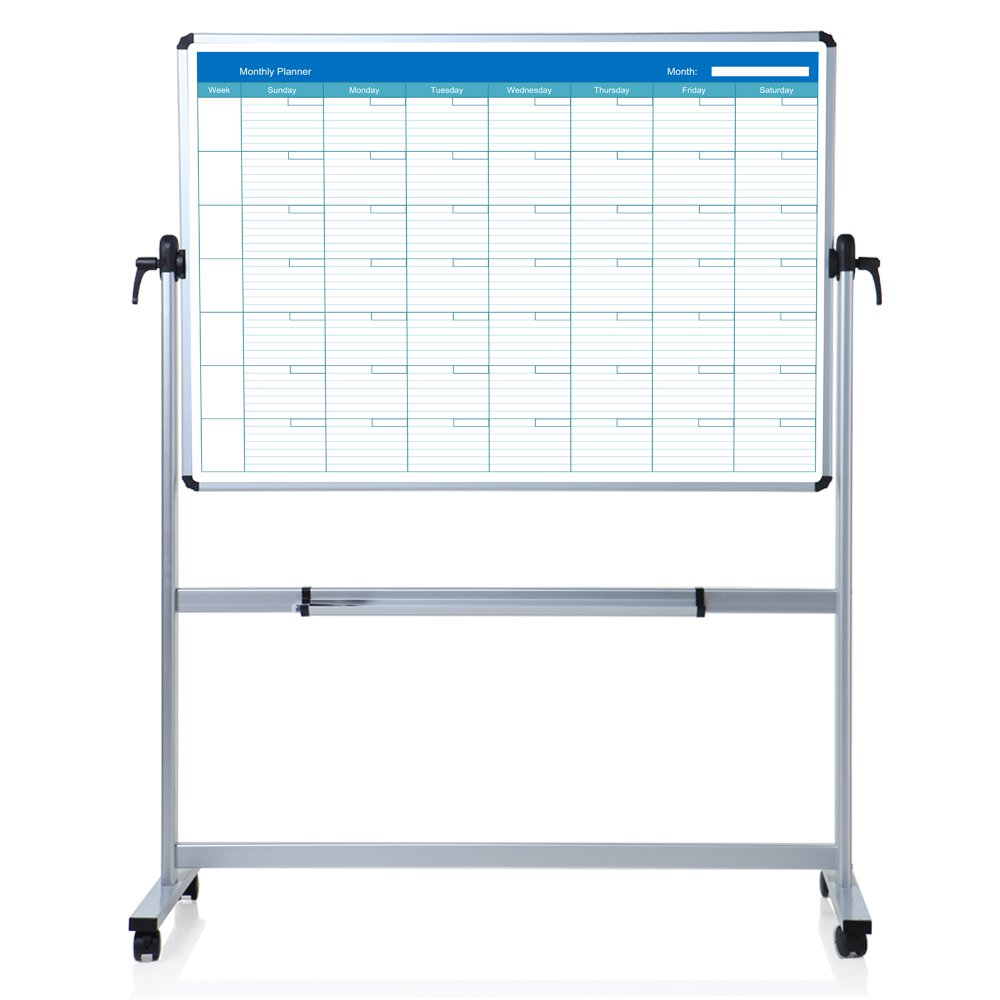 VIZ-PRO Double sided Magnetic Mobile White Board