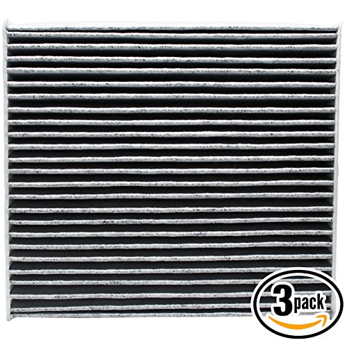 3-Pack Replacement Cabin Air Filter for 2015 Lexus RX 450H V6 3.5L 3456cc Car/Automotive - Activated Carbon, ACF-10285
