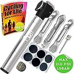 61b9UlhmNIL. SS150 Mini Pompa Bici con Kit Riparazione Gomme & Cerotto per Forature Senza Colla - Micro Pompetta Aria Portatile…