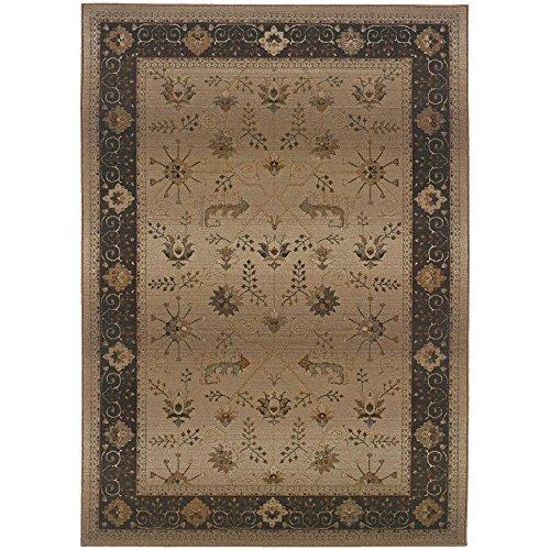 - Oriental Weavers 112M Genesis Area Rug, 2-Feet 3-Inch by 4-Feet 5-Inch, Beige/Brown
