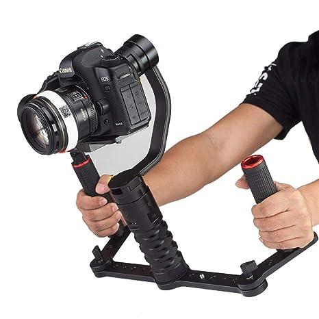 TLgf Estabilizador triaxial de la cámara, cámara réflex Suave ...