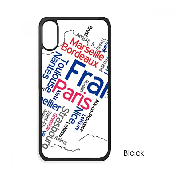 Map Of France With City Names.Amazon Com Words City Name France Mark Map For Iphone Xs Max Cases