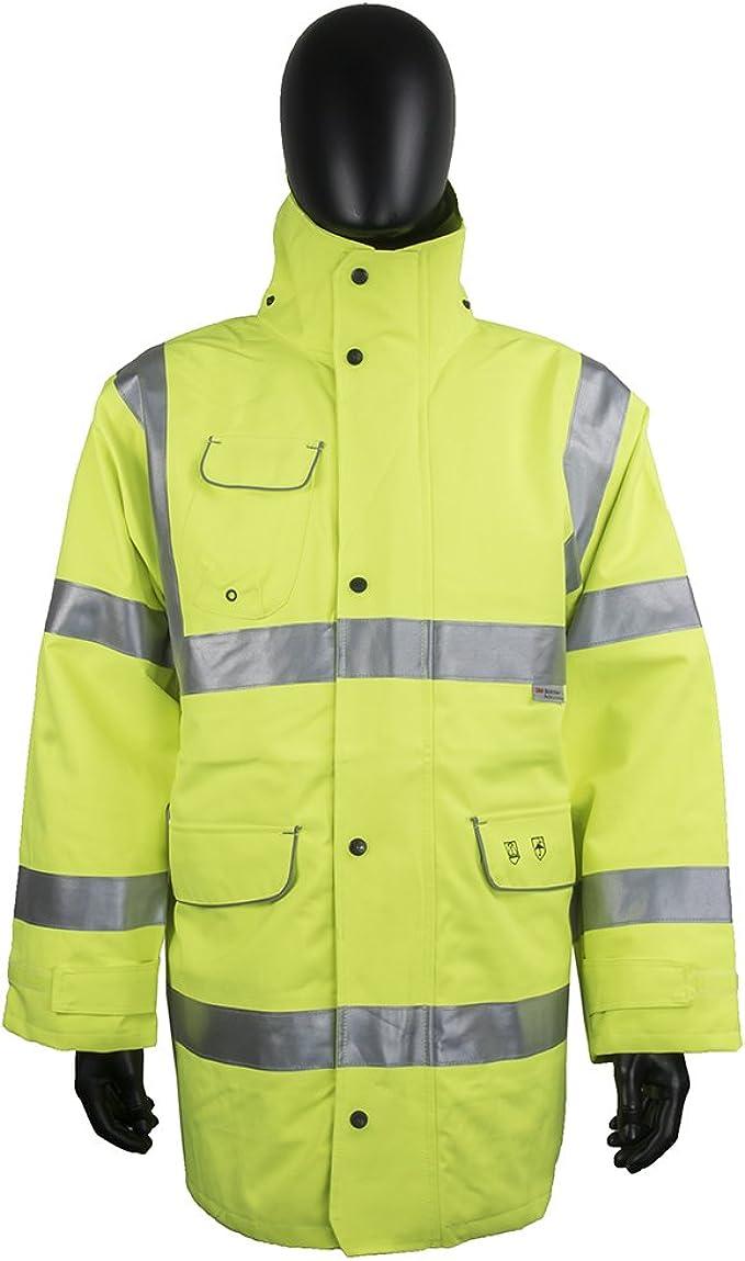 Hi Vis Parka Cappotto Giacca impermeabileWorkwear Sicurezza Riflettente Cappotto Di Sicurezza