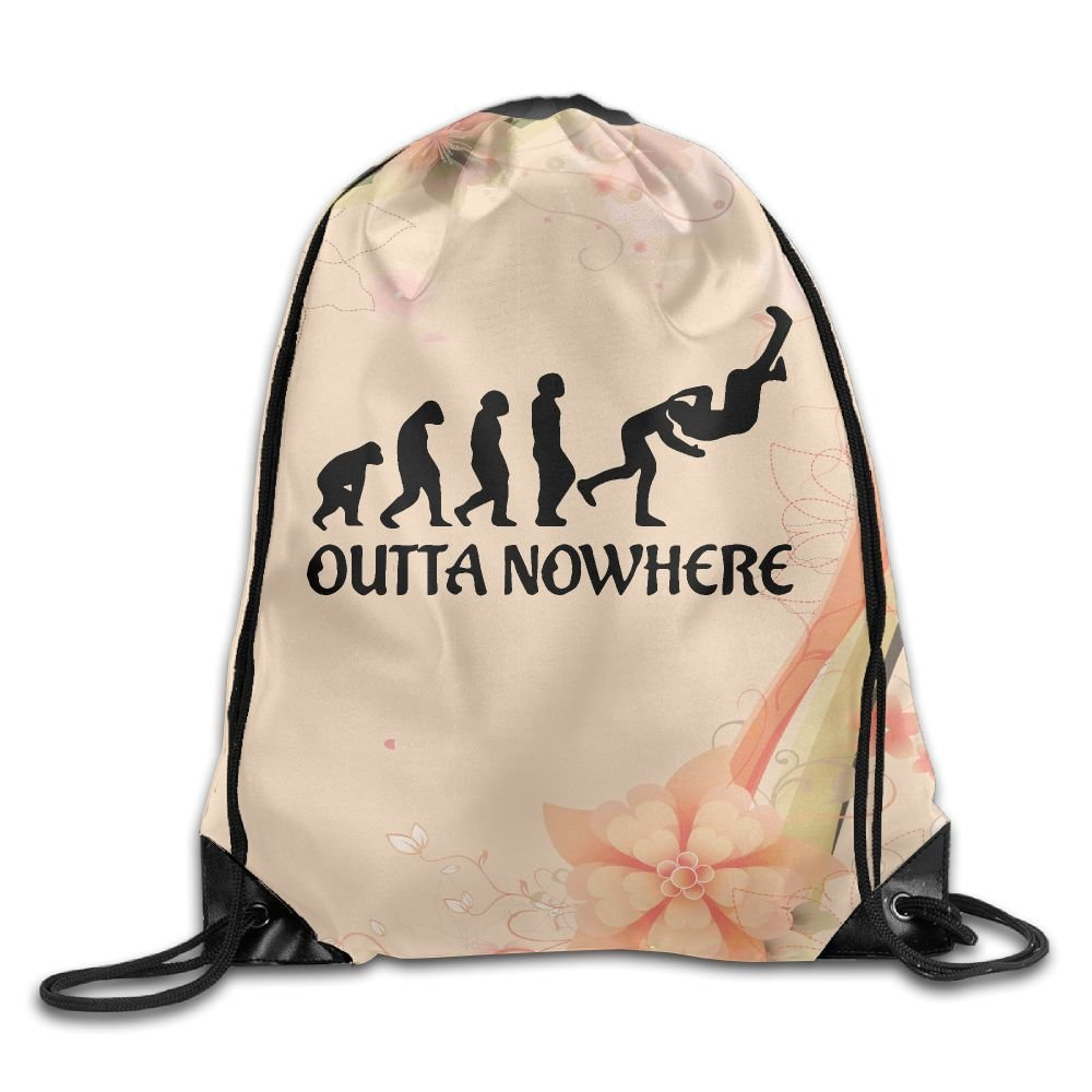 Wrestling Outta No Where Folding Sport Backpack Drawstring Bag Customize Fashion by Q56LZXXDN