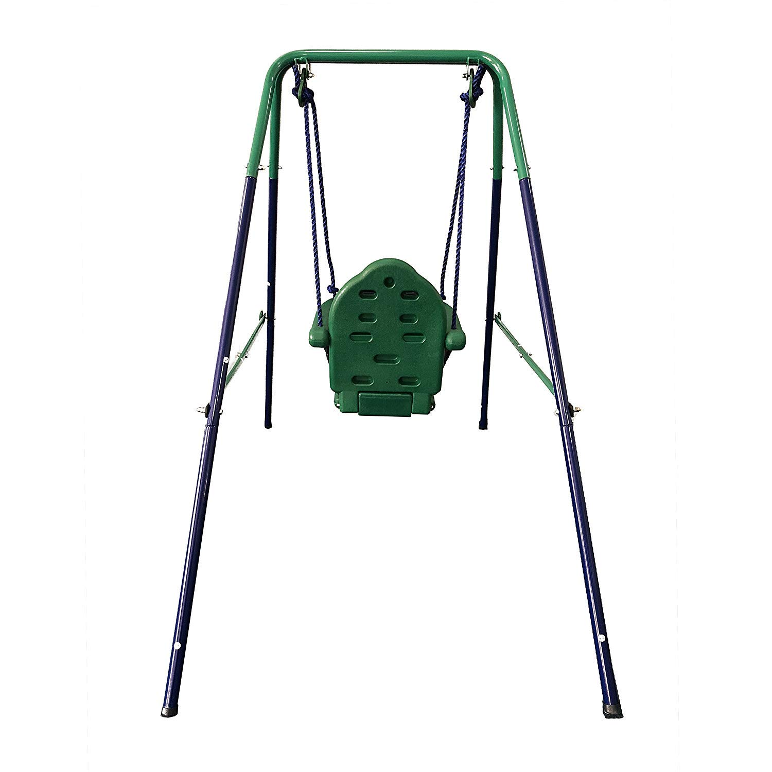 Outdoor Baby Swing >> Aleko Bsw02 Child Baby Toddler Indoor Outdoor Swing Blue And Green