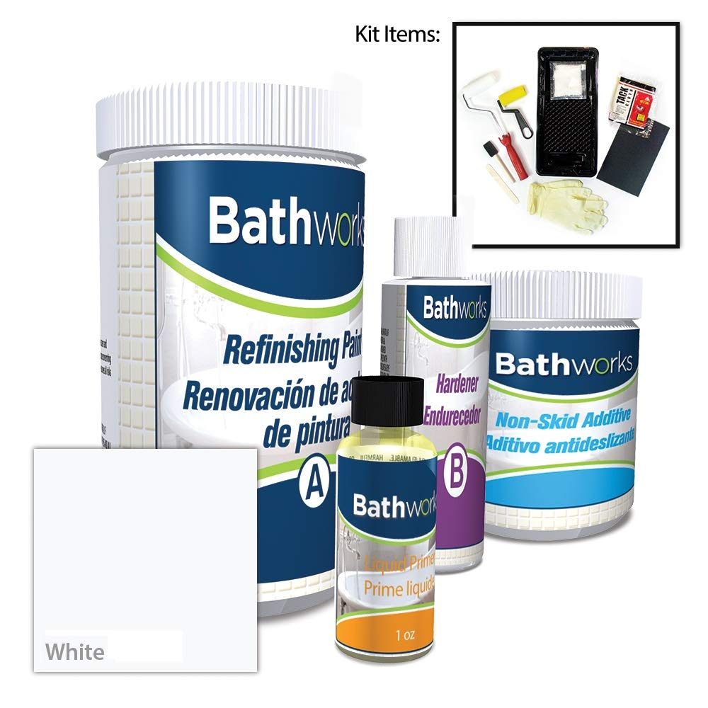 5. BATHWORKS DIY Bathtub & Tile Refinishing Kit w/ Non-Slip