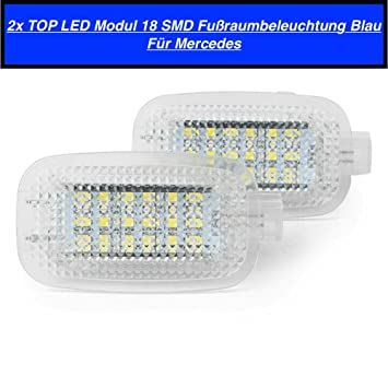 Top 7201ME - Juego de 2 bombillas LED SMD para reposapiés, color azul: Amazon.es: Coche y moto