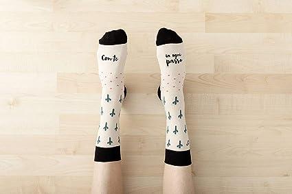 """UO""""con TE en cada Paso blancos calcetines, Algodón, ..."""