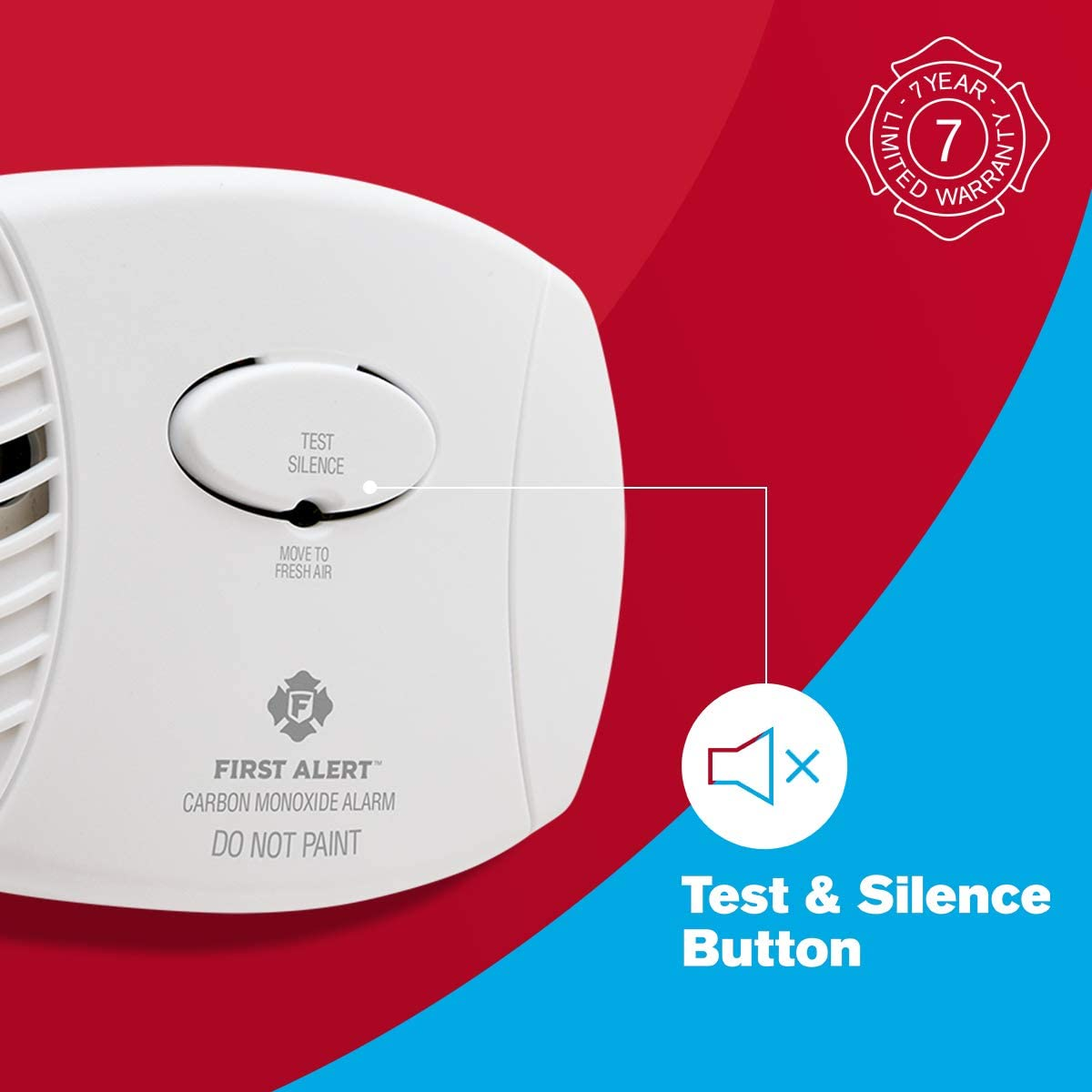 First Alert Carbon Monoxide Detector AlarmPlug-In with Battery Backup CO605