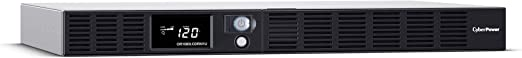 CyberPower OR1000LCDRM1U Smart App LCD UPS System, 1000VA/600W, 6 Outlets, AVR, 1U Rackmount Black