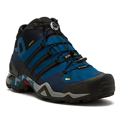 adidas Men's Terrex Fast R Mid GORE-TEX Hiking Shoe,Tech Steel/Black