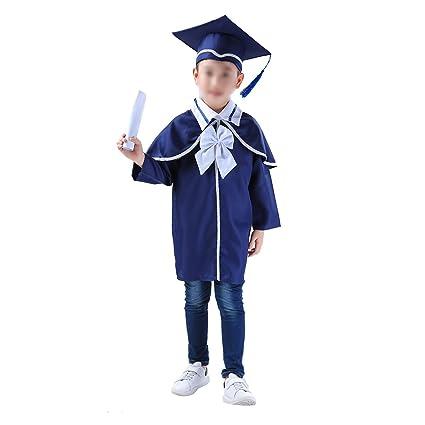 LUOEM Toga Laurea e Tocco Cappello Laurea Travestimento Laurea Costume Laureato  per Bambini (Blu Scuro)  Amazon.it  Abbigliamento 2d1e95e901a9