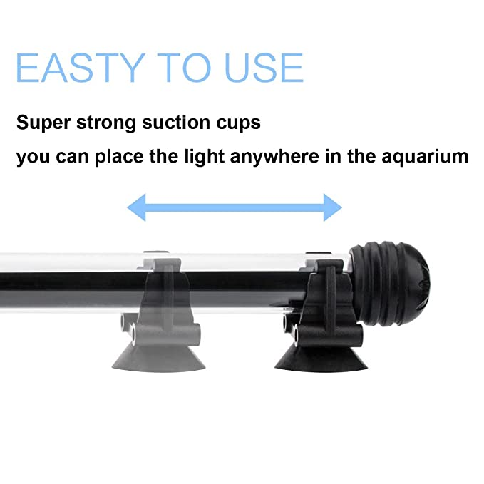 Amazon.com : COVOART LED Aquarium Light, 15inch Fish Tank Light RGB Color Underwater Light Submersible Crystal Glass Lights : Pet Supplies