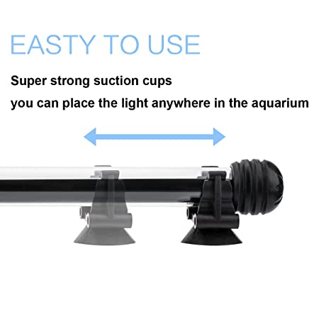 Amazon.com : COVOART LED Aquarium Light, 15 inches Fish Tank Light RGB Color Underwater Light Submersible Crystal Glass Lights : Pet Supplies