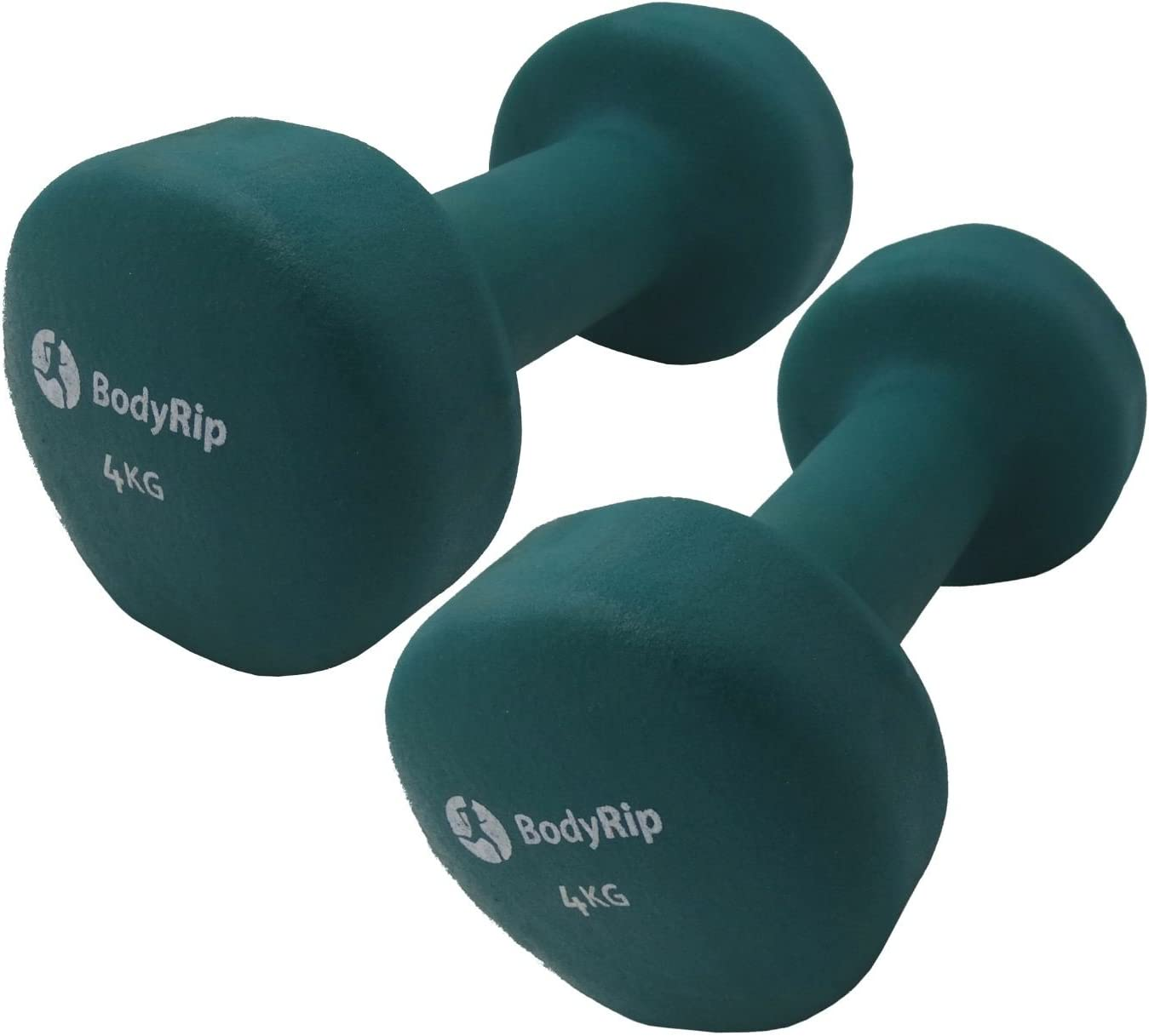 Unisex Neoprene Dumbbells Anti Roll Hex Design Hand or Arm Free Weights 1 Pair | Slim Healthy Active Fitness Exercise Workout Tone Muscle Lean Body for Men /& Women