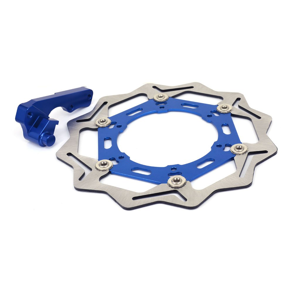 JFG RACING Blue CNC Stainless Steel 270MM Front Floating Brake Disc Bracket For Yamaha YZ250 YZ125 WR125 WR250 YZ250 WR400F YZ250F WR250F WR400F WR450F WR426F
