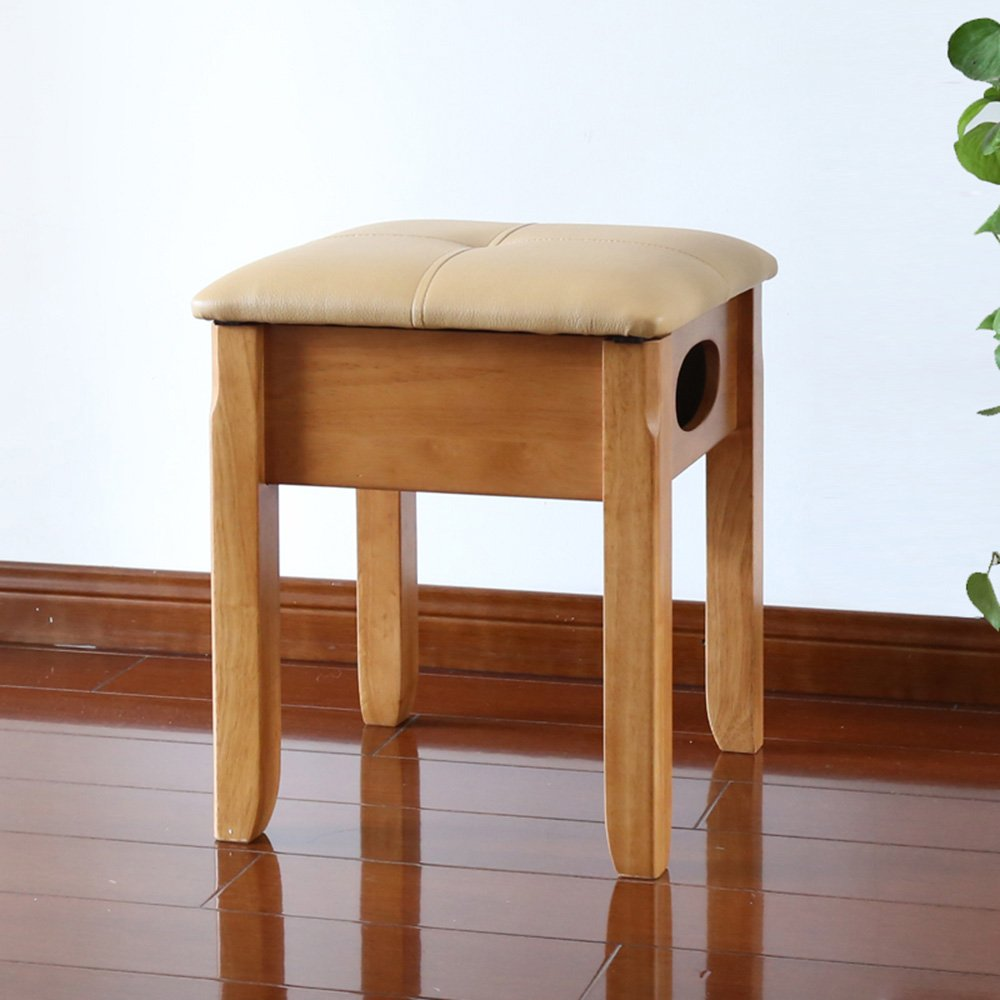 D MEIDUO Chairs Dressing Stool Cushion Padded Wood Chair 36 x 36 x 44 cm (W x L x H) (color   D)
