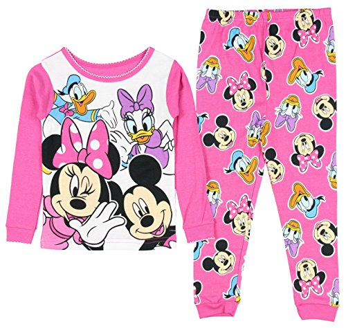 Disney Mickey Minnie Mouse Little Girls Toddler Pajama Set Donald Duck 3T