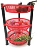 Jai Shoppee Vegetable Rack, 3Layer