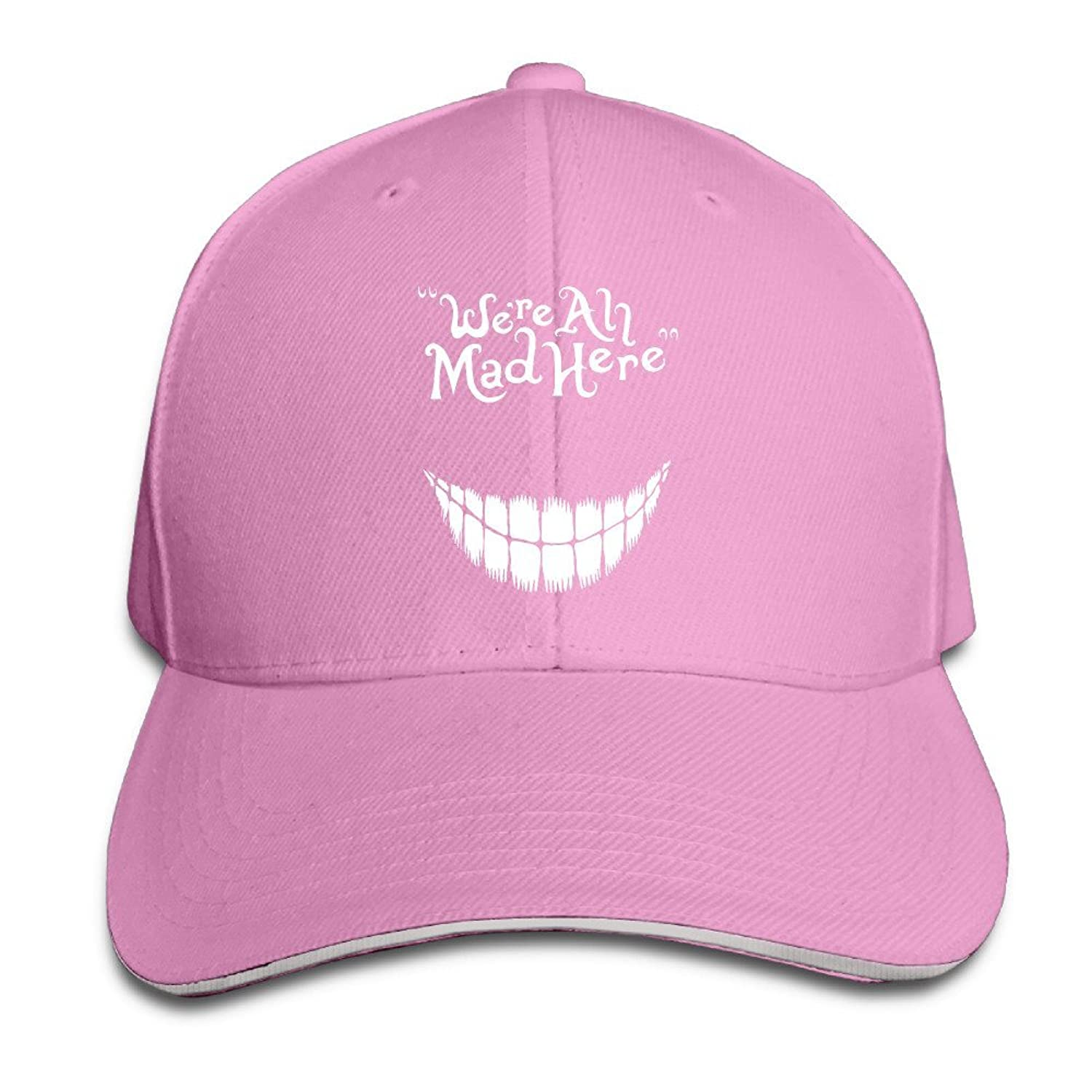 FOODE We Are All Mad Here Peaked Baseball Cap Snapback Hats