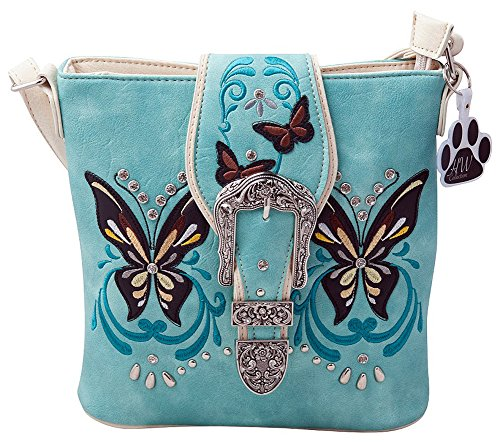 Carry Western Mint Handbag Butterfly Crossbody HW Messenger Collection Bag Concealed Buckle 6X5nnSZq