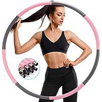 SAWAKE Hula Fitness Oefen Hoepel, Hula Gewichtsverlies Gewogen Hoepels 1,2 kg Voor Volwassenen, Zacht Gestreept Schuim 8…
