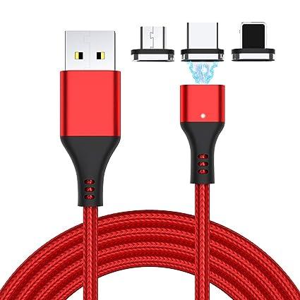 Amazon.com: Aioloc - Cable cargador magnético 3 en 1, carga ...